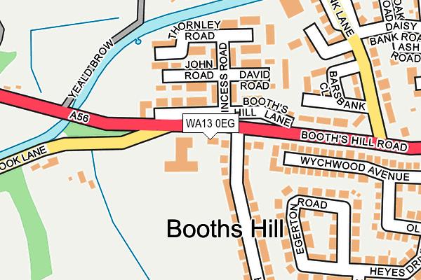 WA13 0EG map - OS OpenMap – Local (Ordnance Survey)
