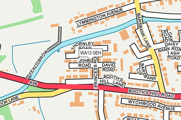 WA13 0EH map - OS OpenMap – Local (Ordnance Survey)