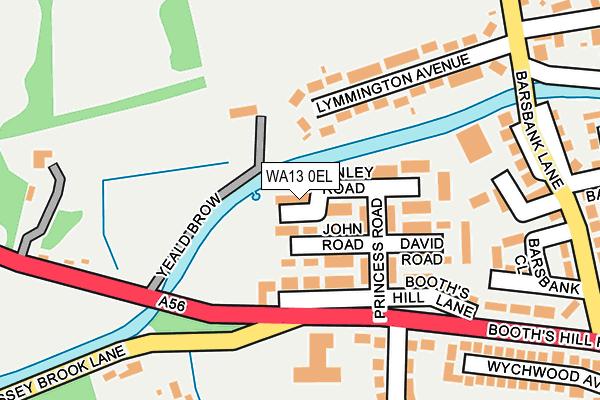 WA13 0EL map - OS OpenMap – Local (Ordnance Survey)