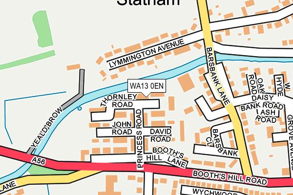 WA13 0EN map - OS OpenMap – Local (Ordnance Survey)