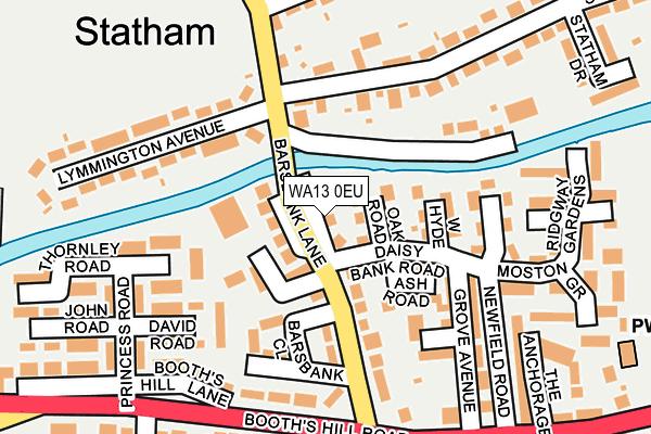 WA13 0EU map - OS OpenMap – Local (Ordnance Survey)
