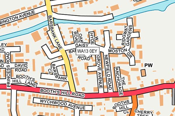 WA13 0EY map - OS OpenMap – Local (Ordnance Survey)