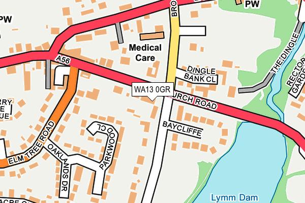 WA13 0GR map - OS OpenMap – Local (Ordnance Survey)