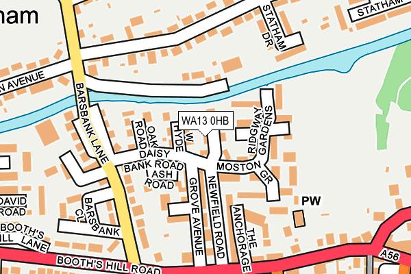 WA13 0HB map - OS OpenMap – Local (Ordnance Survey)
