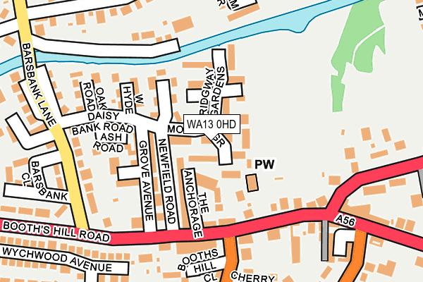 WA13 0HD map - OS OpenMap – Local (Ordnance Survey)