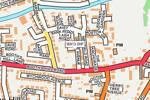 WA13 0HF map - OS OpenMap – Local (Ordnance Survey)