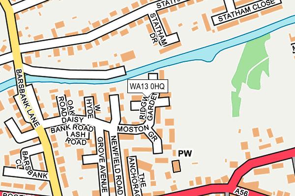 WA13 0HQ map - OS OpenMap – Local (Ordnance Survey)