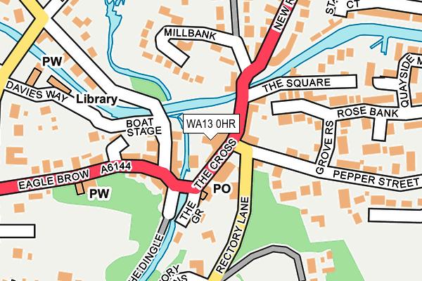 WA13 0HR map - OS OpenMap – Local (Ordnance Survey)