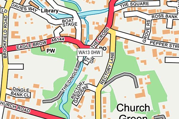 WA13 0HW map - OS OpenMap – Local (Ordnance Survey)