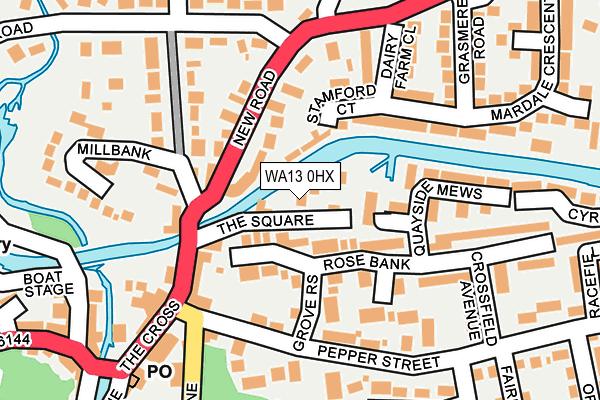 WA13 0HX map - OS OpenMap – Local (Ordnance Survey)
