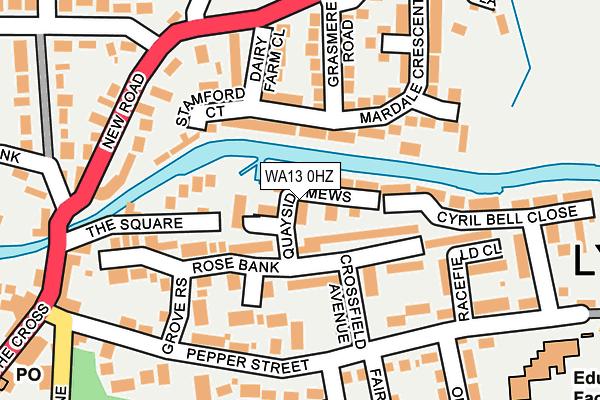 WA13 0HZ map - OS OpenMap – Local (Ordnance Survey)