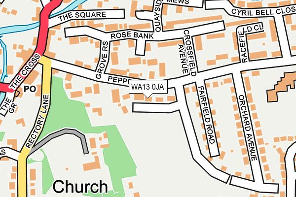 WA13 0JA map - OS OpenMap – Local (Ordnance Survey)