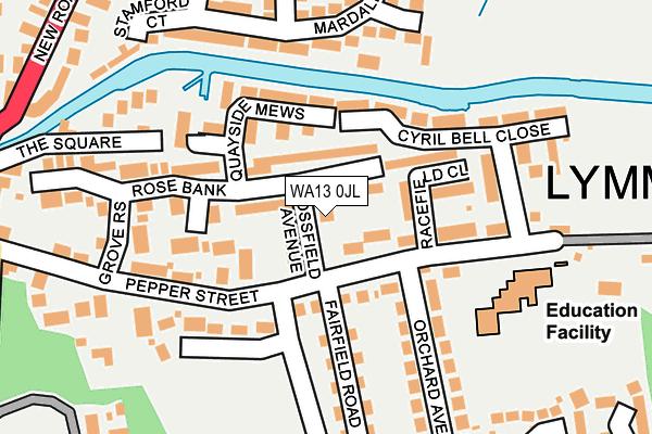 WA13 0JL map - OS OpenMap – Local (Ordnance Survey)