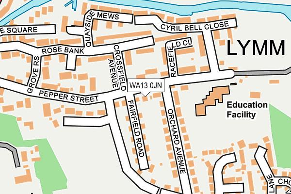 WA13 0JN map - OS OpenMap – Local (Ordnance Survey)