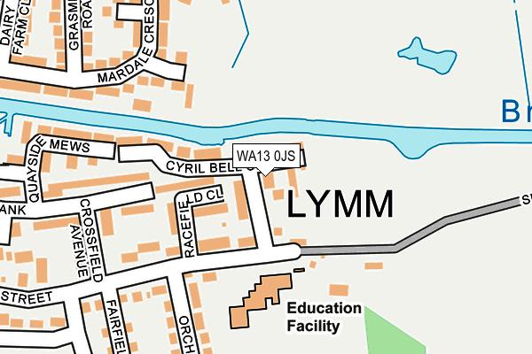 WA13 0JS map - OS OpenMap – Local (Ordnance Survey)