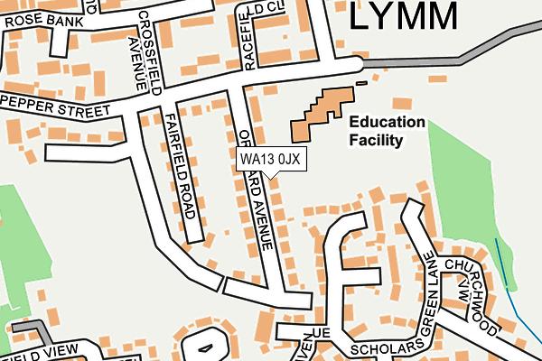 WA13 0JX map - OS OpenMap – Local (Ordnance Survey)