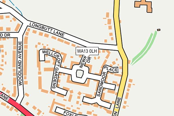 WA13 0LH map - OS OpenMap – Local (Ordnance Survey)