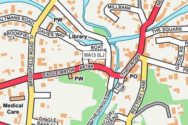 WA13 0LJ map - OS OpenMap – Local (Ordnance Survey)