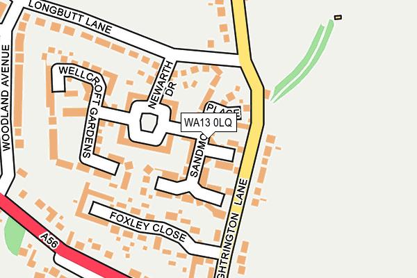 WA13 0LQ map - OS OpenMap – Local (Ordnance Survey)