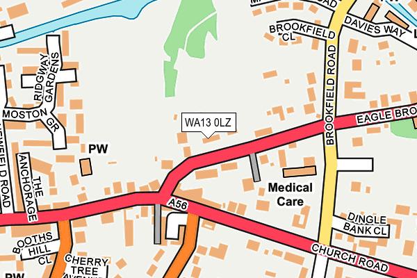 WA13 0LZ map - OS OpenMap – Local (Ordnance Survey)