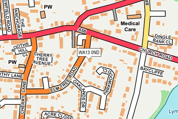 WA13 0ND map - OS OpenMap – Local (Ordnance Survey)