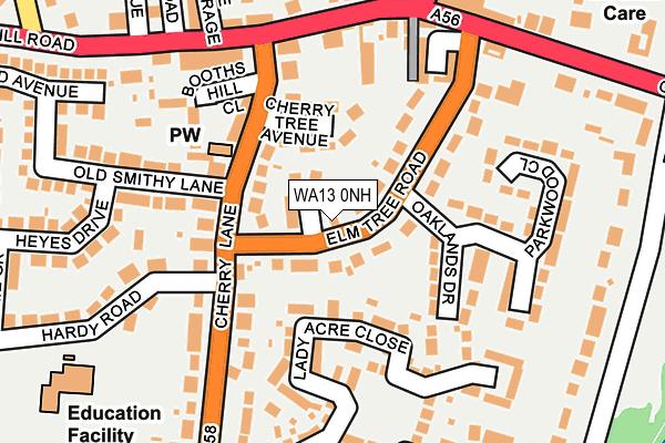 WA13 0NH map - OS OpenMap – Local (Ordnance Survey)