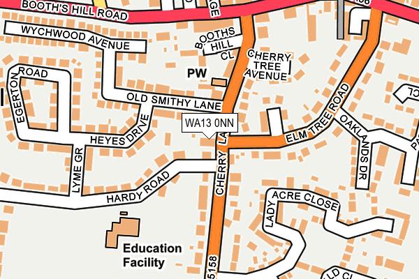 WA13 0NN map - OS OpenMap – Local (Ordnance Survey)