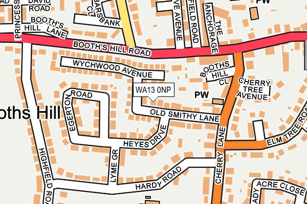 WA13 0NP map - OS OpenMap – Local (Ordnance Survey)