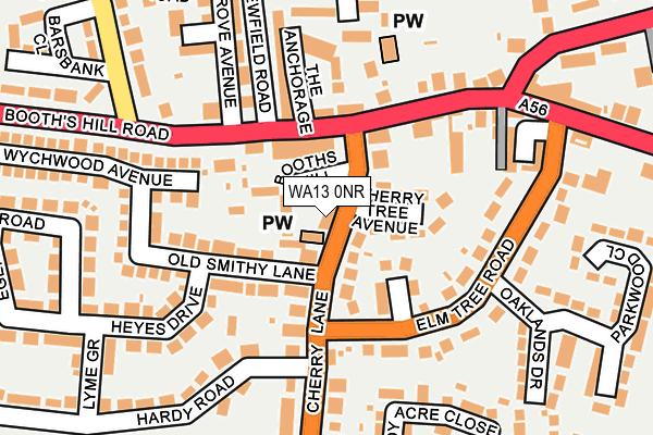 WA13 0NR map - OS OpenMap – Local (Ordnance Survey)