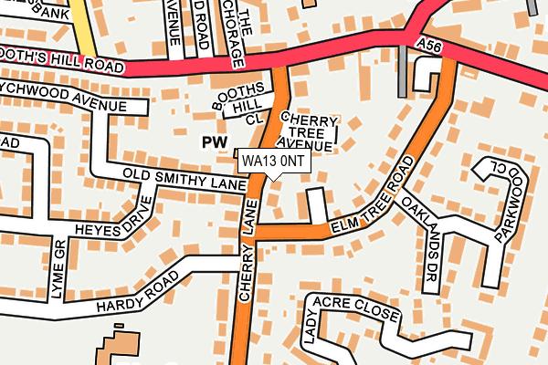 WA13 0NT map - OS OpenMap – Local (Ordnance Survey)