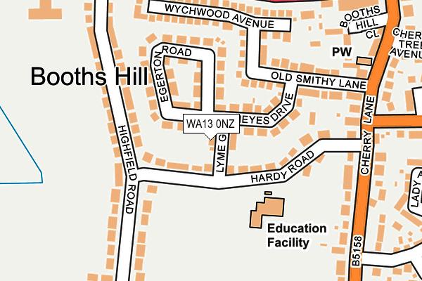 WA13 0NZ map - OS OpenMap – Local (Ordnance Survey)
