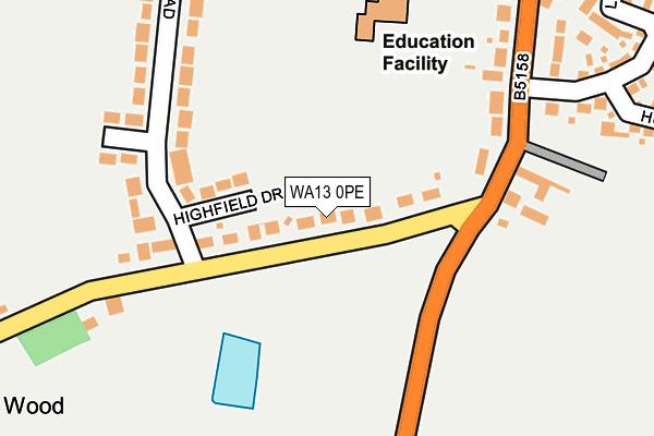 WA13 0PE map - OS OpenMap – Local (Ordnance Survey)