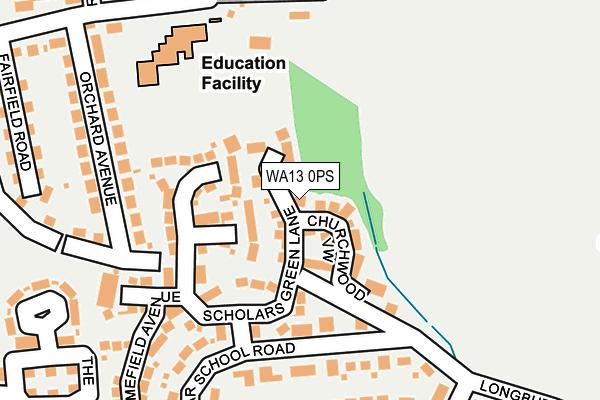 WA13 0PS map - OS OpenMap – Local (Ordnance Survey)