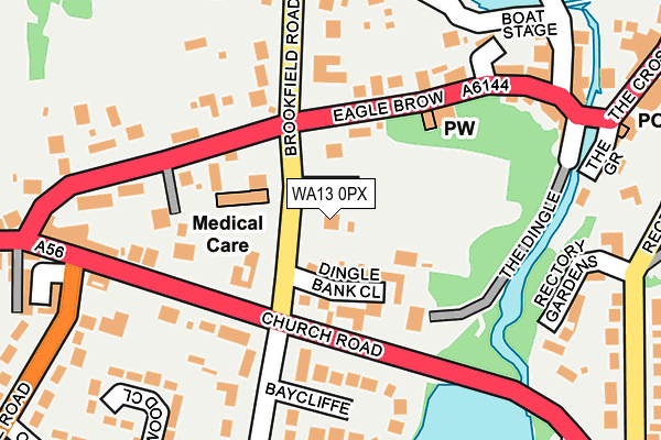 WA13 0PX map - OS OpenMap – Local (Ordnance Survey)