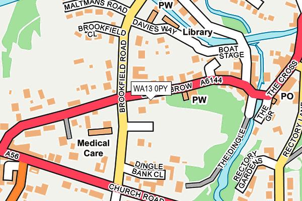WA13 0PY map - OS OpenMap – Local (Ordnance Survey)