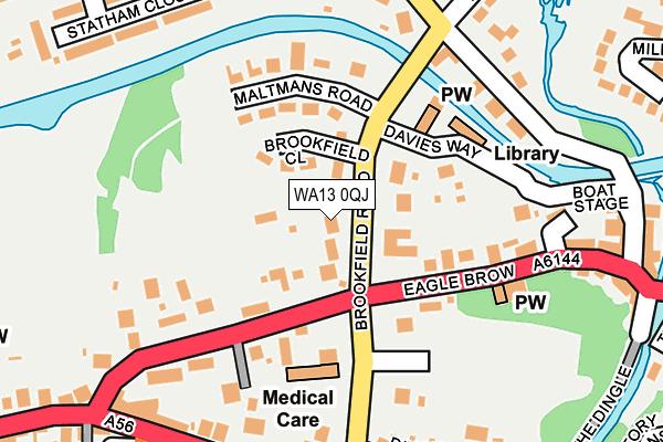 WA13 0QJ map - OS OpenMap – Local (Ordnance Survey)