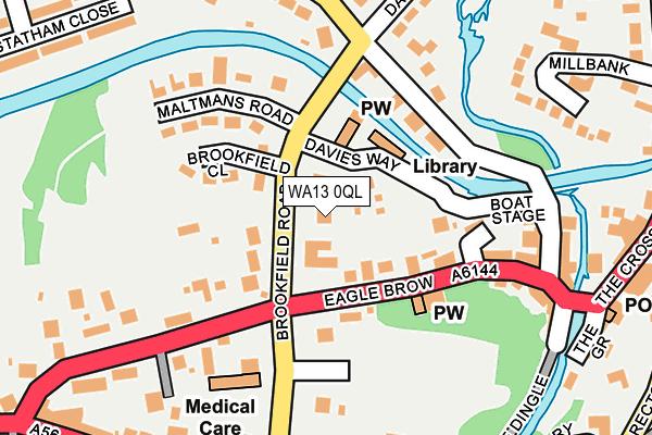 WA13 0QL map - OS OpenMap – Local (Ordnance Survey)