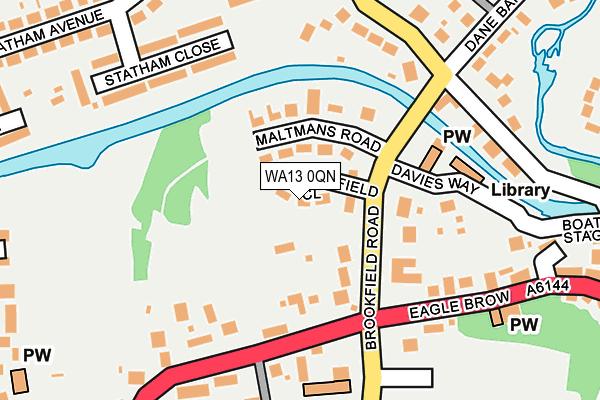 WA13 0QN map - OS OpenMap – Local (Ordnance Survey)