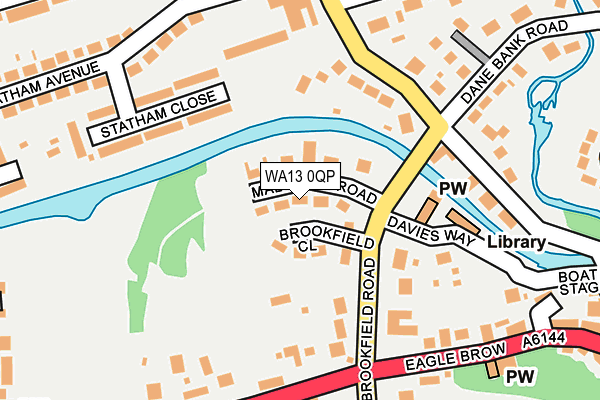 WA13 0QP map - OS OpenMap – Local (Ordnance Survey)