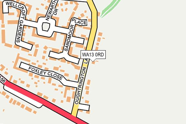 WA13 0RD map - OS OpenMap – Local (Ordnance Survey)