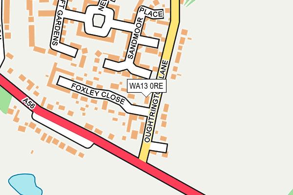 WA13 0RE map - OS OpenMap – Local (Ordnance Survey)