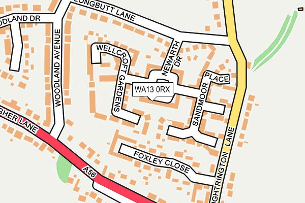 WA13 0RX map - OS OpenMap – Local (Ordnance Survey)