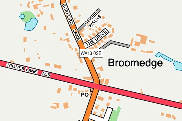 WA13 0SE map - OS OpenMap – Local (Ordnance Survey)