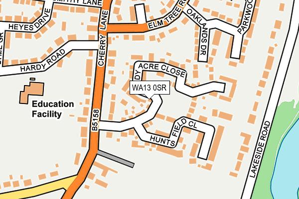 WA13 0SR map - OS OpenMap – Local (Ordnance Survey)