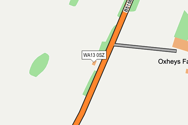 WA13 0SZ map - OS OpenMap – Local (Ordnance Survey)