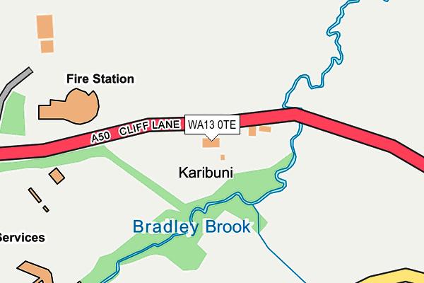 WA13 0TE map - OS OpenMap – Local (Ordnance Survey)