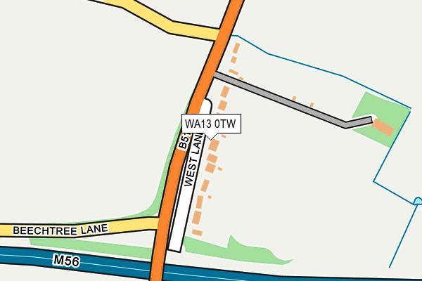 WA13 0TW map - OS OpenMap – Local (Ordnance Survey)