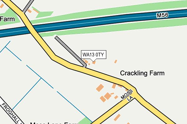 WA13 0TY map - OS OpenMap – Local (Ordnance Survey)