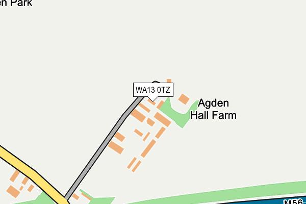 WA13 0TZ map - OS OpenMap – Local (Ordnance Survey)