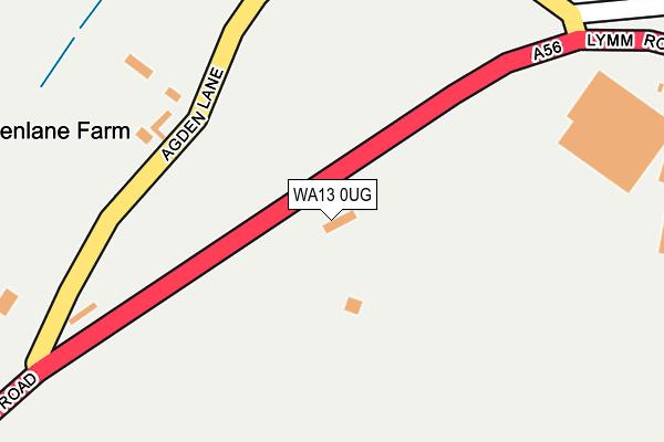 WA13 0UG map - OS OpenMap – Local (Ordnance Survey)